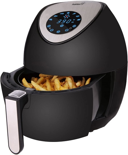 Best Hot Air Fryers That Cook Chicken Without Oil Required(Black)