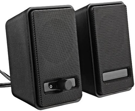 AmazonBasics USB Powered Computer Speakers (A100)