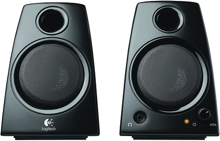 ogitech 3.5mm Jack Compact Laptop Speakers, Black (Z130)